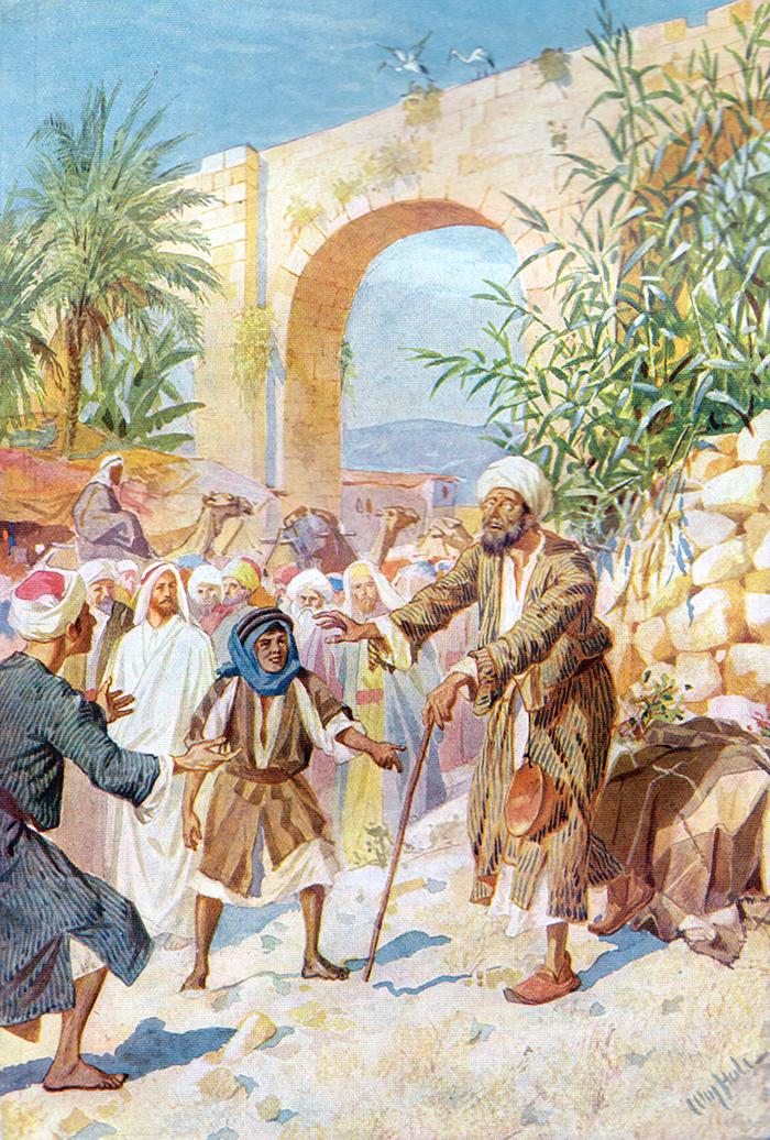 Jesus Heals The Blind Beggar by William Hole