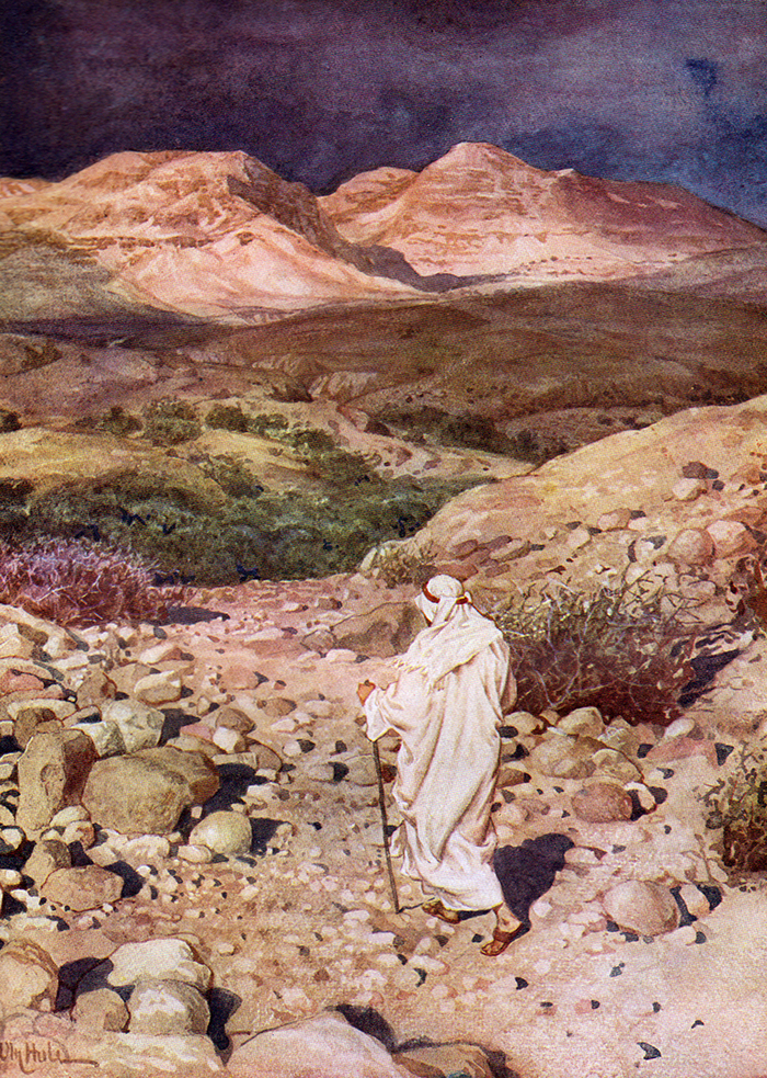 Jesus Led Into The Wilderness by William Hole
