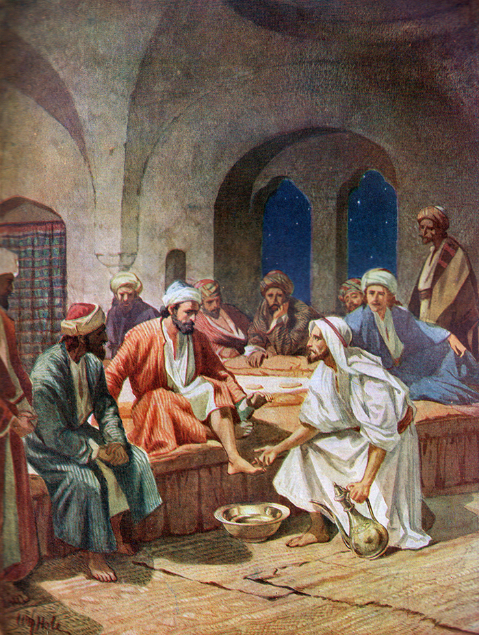 Jesus Washes The Apostles Feet by William Hole