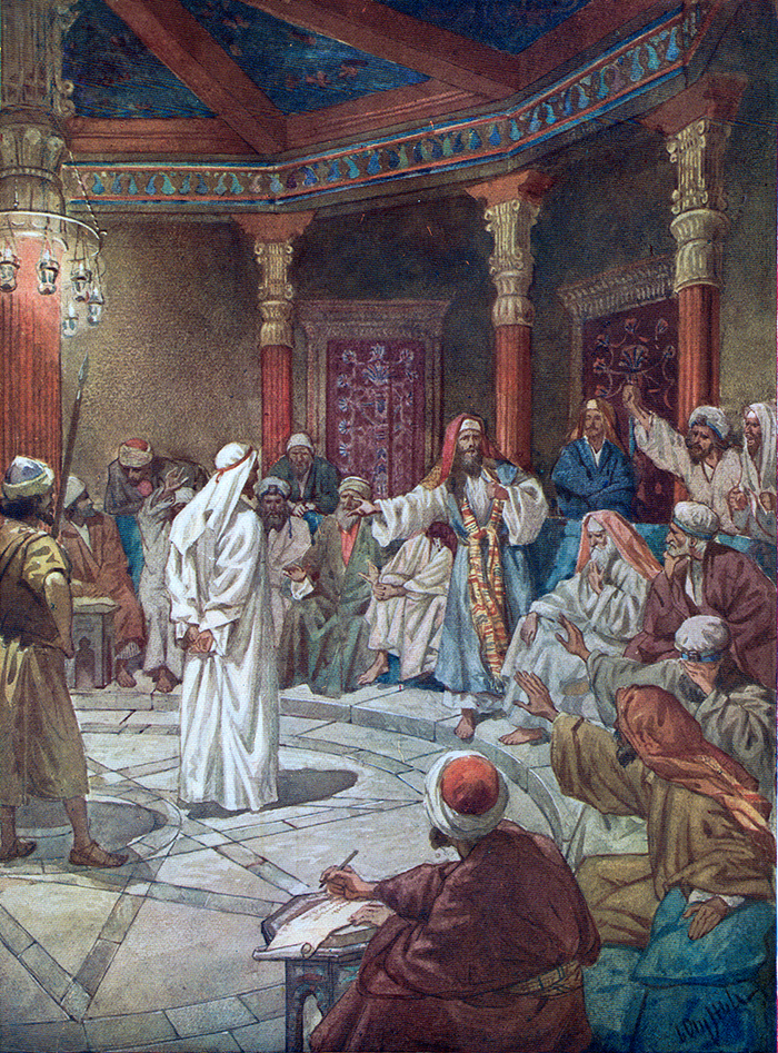 Jesus is brought before the High Priest by William Hole