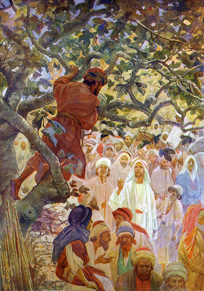 Zacchaeus In The Sycamore Tree by William Hole