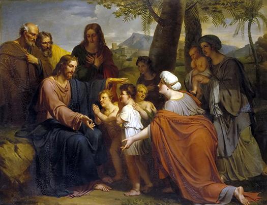 Jesus-Christ Benissant Les Enfants (Jesucristo bendiciendo a los niños) by Antoine Ansiaux