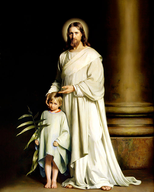 Christ and the young child (Cristo y los niños pequeños) by Carl Bloch