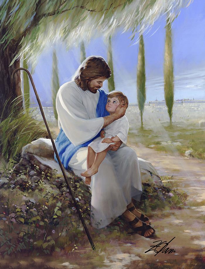 Иисус и девочка картинка