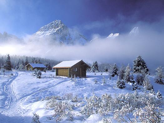 Assiniboine Cabin by Don Paulson