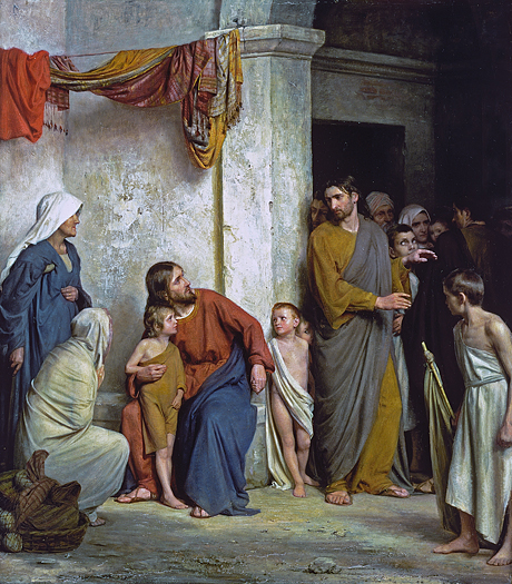 Jesus and the Children by Carl Bloch