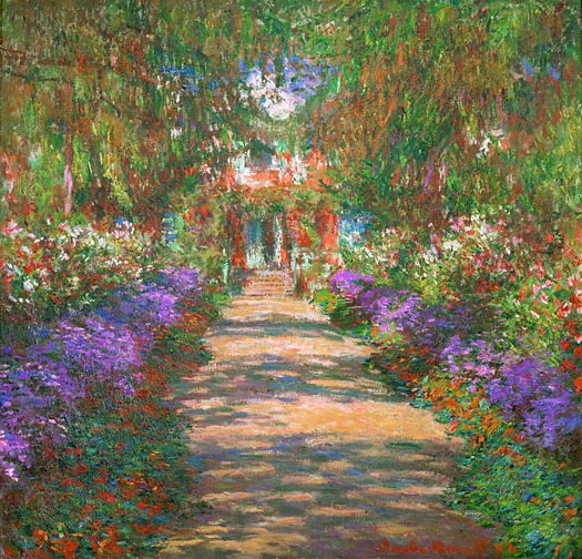 Path in Monet's Garden at Giverny by Claude Monet