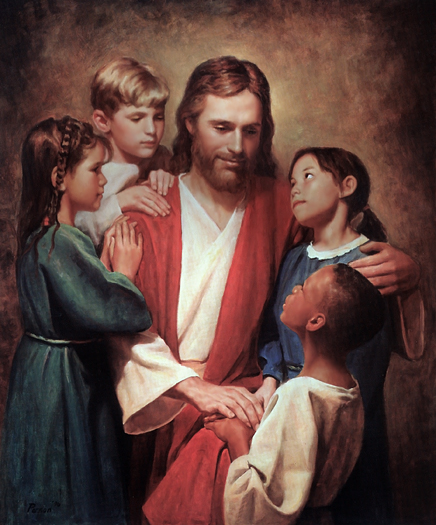 Christ and the Children by Del Parson