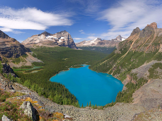 Lake Ohara,Yoho National Park, British Columbia, Canada by Don Paulson