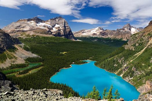 Lake Ohara,Yoho National Park, British Columbia, Canada by Don Paulson