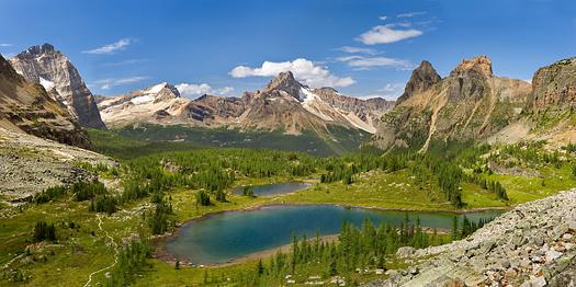 Hungabee Lake, Opabin Highland, Yoho National Park, British Columbia, Canada by Don Paulson