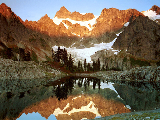 Mount Shuksan and Lake Ann, Washington by Don Paulson