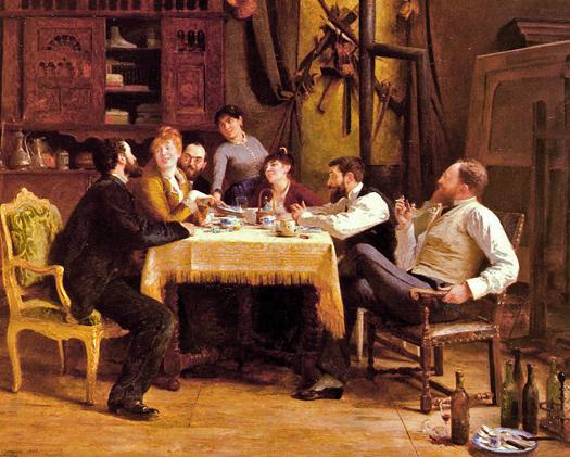 Un Dejeuner d'Amis by Fernand-Anne Piestre Cormon