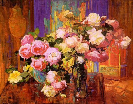 Roses by Franz Arthur Bischoff