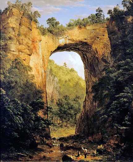 The Natural Bridge by Frederic Church