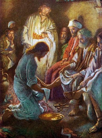 Washing The Apostles Feet by Harold Copping