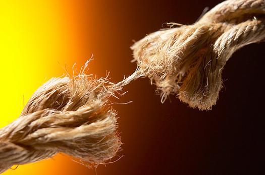 Rope breaking