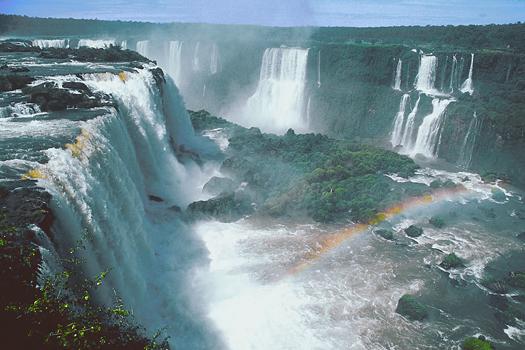 Several waterfalls