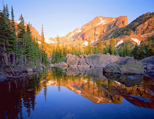 Hallett Peak Relection - Rocky Mountain National Park