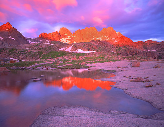 Needle Mountains Sunrise - Weminuche Wilderness, San Juan Mountains