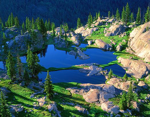 Ponds - Rocky Mountain National Park by John Fielder