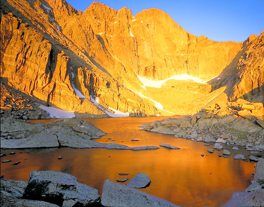 Chasm Lake and Longs Peak - Rocky Mountain National Park by John Fielder