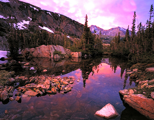 Longs Peak Sunset - Rocky Mountain National Park by John Fielder