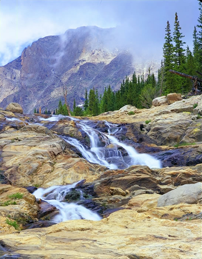 Mummy Range Cascades - Rocky Mountain National Park by John Fielder