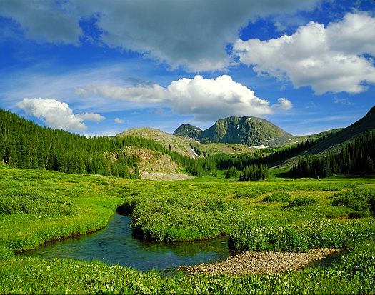 Rock Creek Weminuche Wild - Weminuche Wilderness, San Juan Mountains by John Fielder