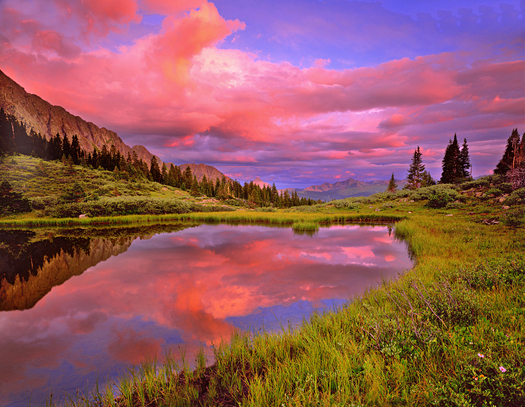 West Needles Mts. Sunrise - Weminuche Wilderness, San Juan Mountains by John Fielder