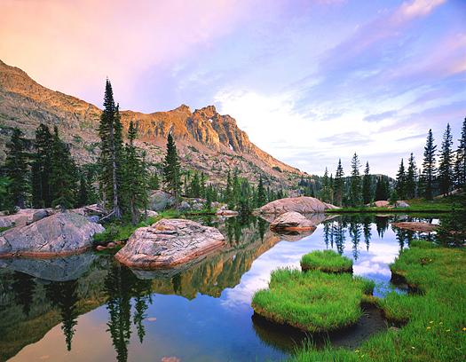 High mountain lake by John Fielder