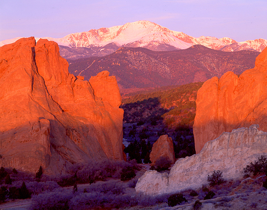 Garden of the Gods and Pike's Peak by John Fielder