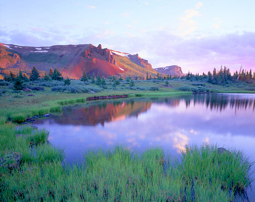 Flattops Reflection - Flattops Wilderness near Meeker, Colorado by John Fielder