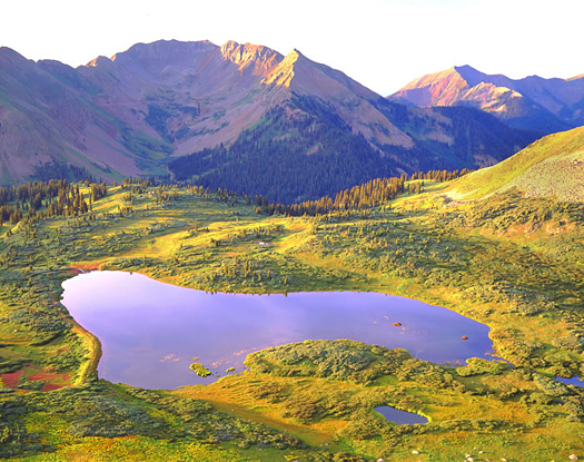 La Plata Mts. Lake - La Plata Mountains near Durango, Colorado by John Fielder