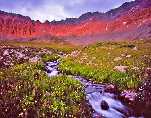Mayflower Gulch Sunset - near Copper Mountain, Colorado by John Fielder