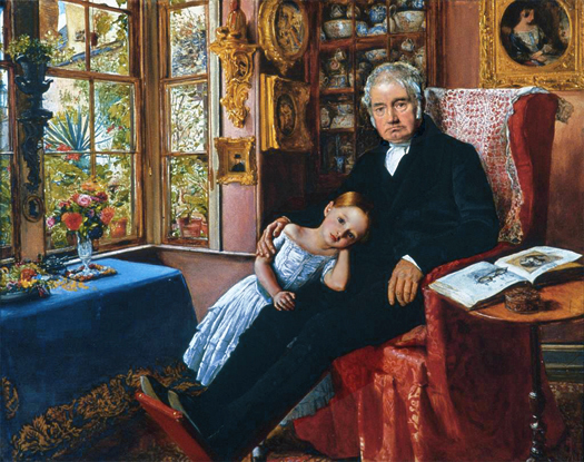 James Wyatt and his Granddaughter, Mary by John Everett Millais