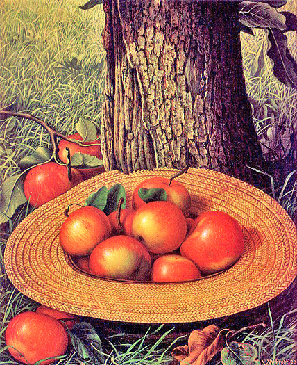 Apples, Hat, and Tree by Levi Wells Prentice