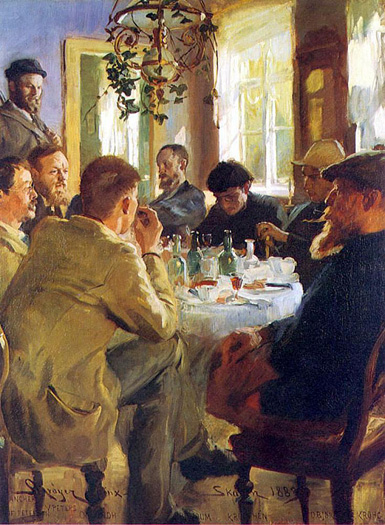 The Artists' Luncheon by Peter Severin Kroyer