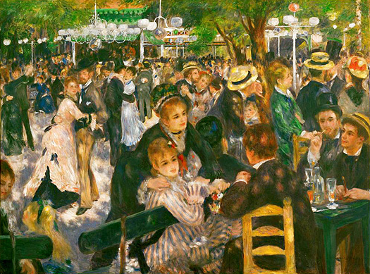 Dance at the Moulin de la Galette by Pierre Auguste Renoir