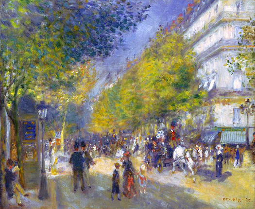 The Great Boulevards by Pierre Auguste Renoir