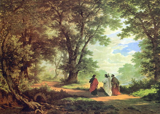 Way to Emmaus by Robert Zund
