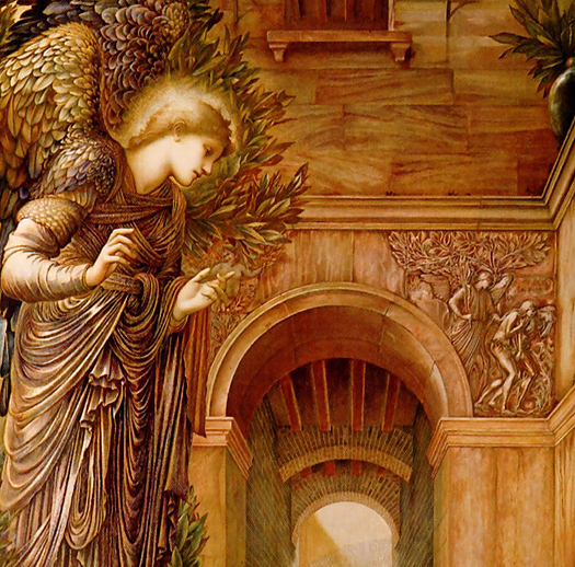 The Annunciation (detail) by Sir Edward Coley Burne Jones