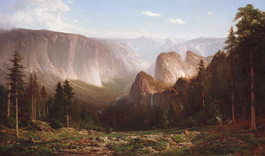 Great Canyon of the Sierra, Yosemite by Thomas Hill