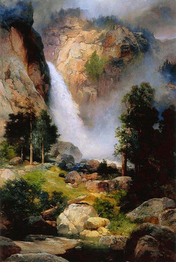 Cascade Falls Yosemite by Thomas Moran