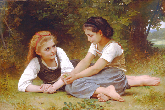 Les noisettes by William Adolphe Bouguereau