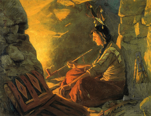 Indian Meditation by William Gilbert Gaul