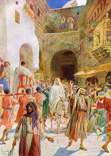 Jesus Enters Jerusalem by William Hole