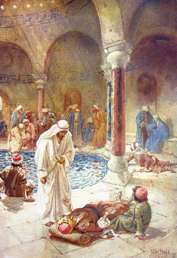 Jesus Heals At The Pool Of Bethesda by William Hole