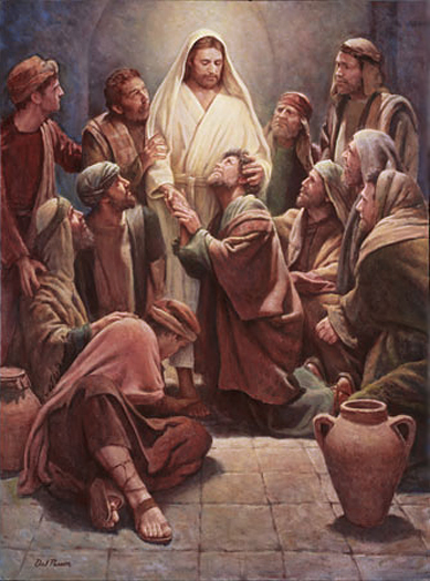 Christ with the apostles by Del Parson