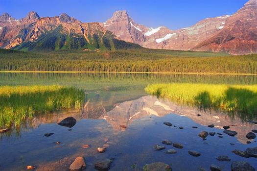 Jasper National Park in Alberta Canada - Mountain Lake Reflections
